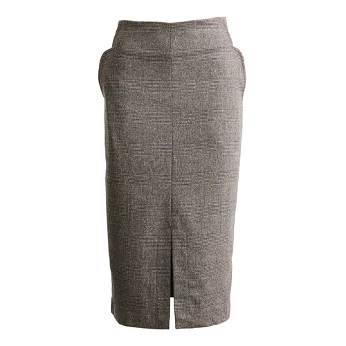Stratham Houndstooth Wool Pencil Skirt