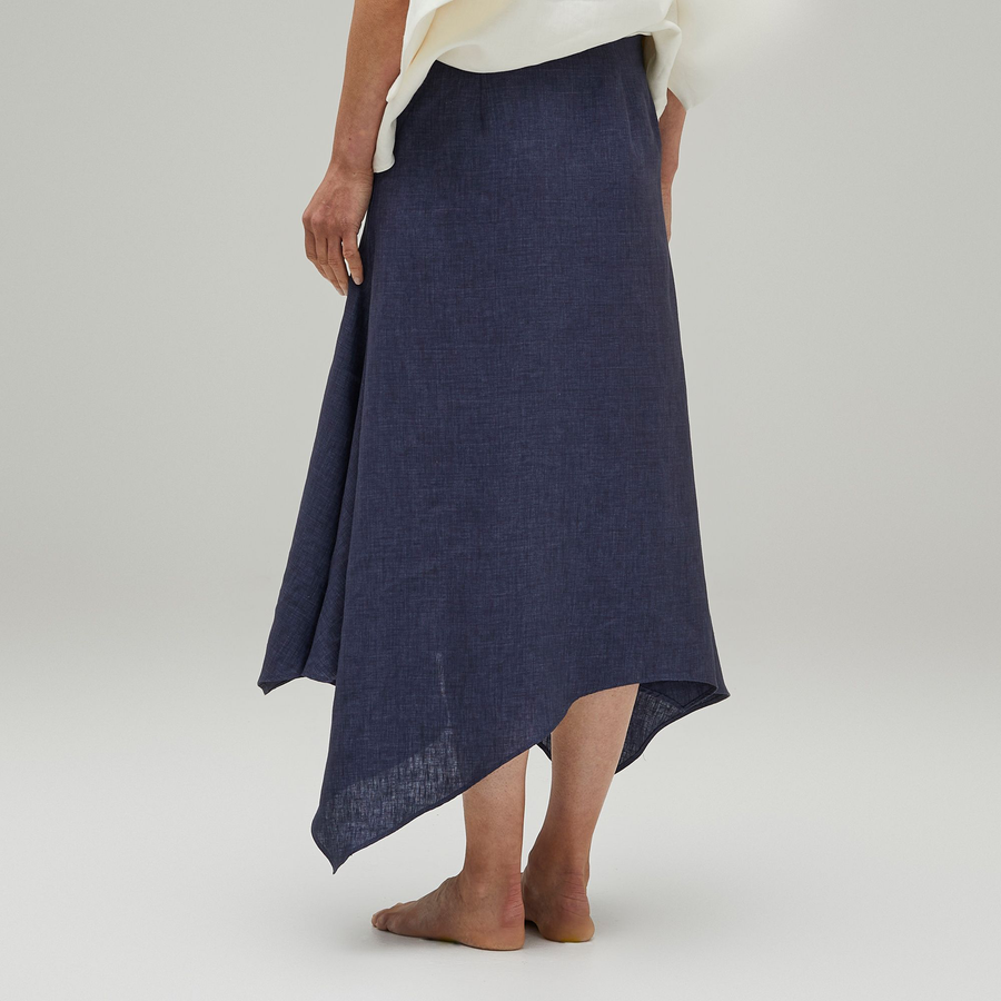 White Caps Skirt Slate Blue
