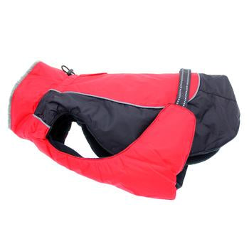Alpine All-Weather Dog Coat by Doggie Design - Red and Black