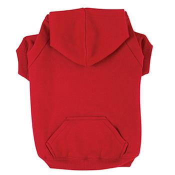 Basic Dog Hoodie - Tomato Red