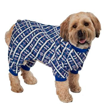 Plaid Dog Pajamas - Blue