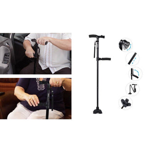 Dual Handle Lightweight Walking Stick Cane with LED Light  - Vydya Health