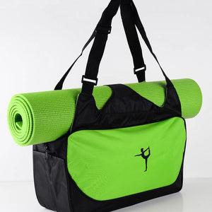 High-capacity Waterproof Yoga Bag Green - Vydya Health