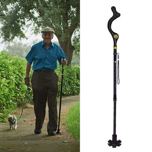 Walking Stick With Ergonomic Handle Retractable style - Vydya Health