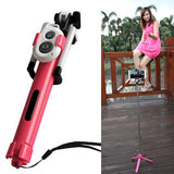 Extendable Selfie-Stick Tripod with Bluetooth Remote