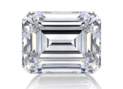 Faceted Emerald Cut Diamond
