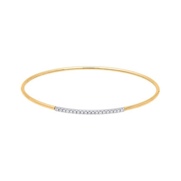 18ct Rose Gold 0.17ct Diamond Bangle BLC-105