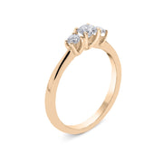 18ct Rose Gold 0.50ct Brilliant Cut Diamond Trilogy Ring R1138