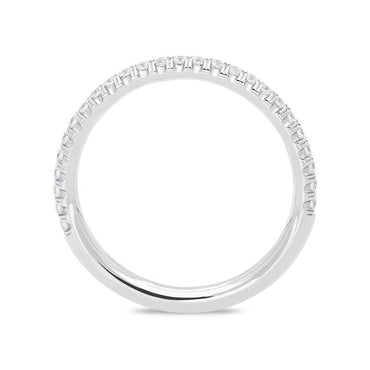 18ct White Gold 0.28ct Half Eternity Ring BLC-090