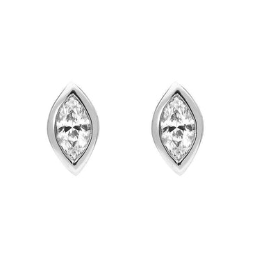 18ct White Gold 0.33ct Diamond Marquise Stud Earrings OPT-001