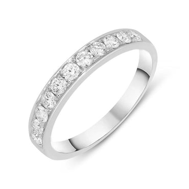18ct White Gold 0.50ct Diamond Half Eternity Ring R956