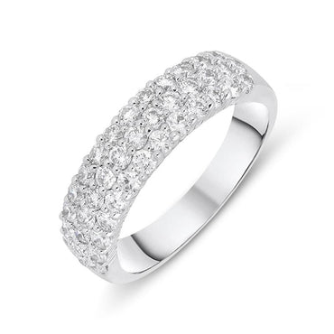 18ct White Gold 1.00ct Diamond Eternity Dress Ring FEU-1763