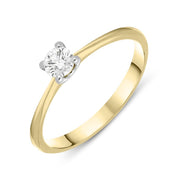 18ct Yellow Gold 0.22ct Diamond Brilliant Cut Solitaire Ring BLC-040