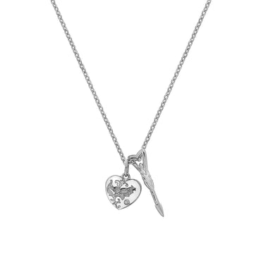 Hot Diamonds Cupid Sterling Silver Necklace DP751