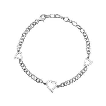 Hot Diamonds Warm Sterling Silver Heart Bracelet DL564