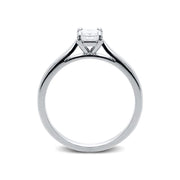 Platinum 0.34ct Diamond Princess Cut Solitaire Ring.  FEU-1546.
