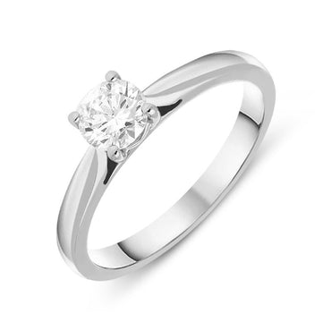 Platinum 0.50ct Diamond Brilliant Cut Solitaire Ring FEU-1635