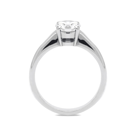 Platinum 0.72ct Diamond Brilliant Cut Solitaire Ring R331