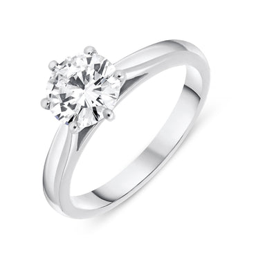 Platinum 1.13ct Diamond Brilliant Cut Solitaire Ring FEU-1815