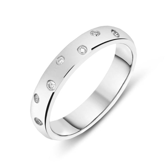 Platinum Diamond Wedding Ring CGN-545