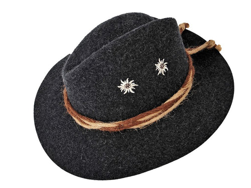 Cappello in lana decorato con stelle alpine FAUSTMANN