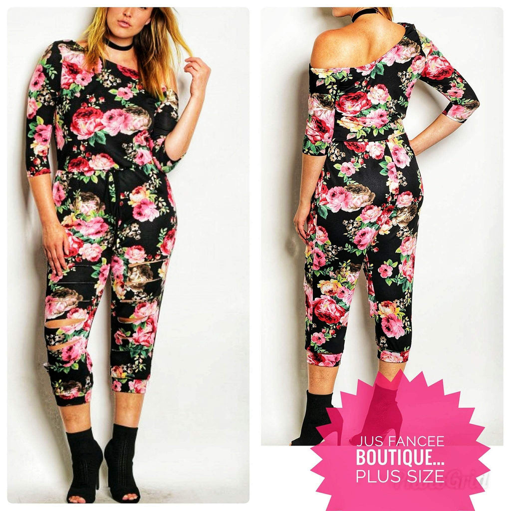 Floral Plus Size Jumpsuit (SALE)