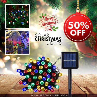 Solar-Powered Christmas Lights