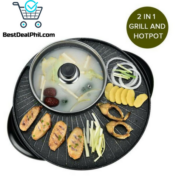 2 IN 1 HOT POT AND GRILLER AT HOME!