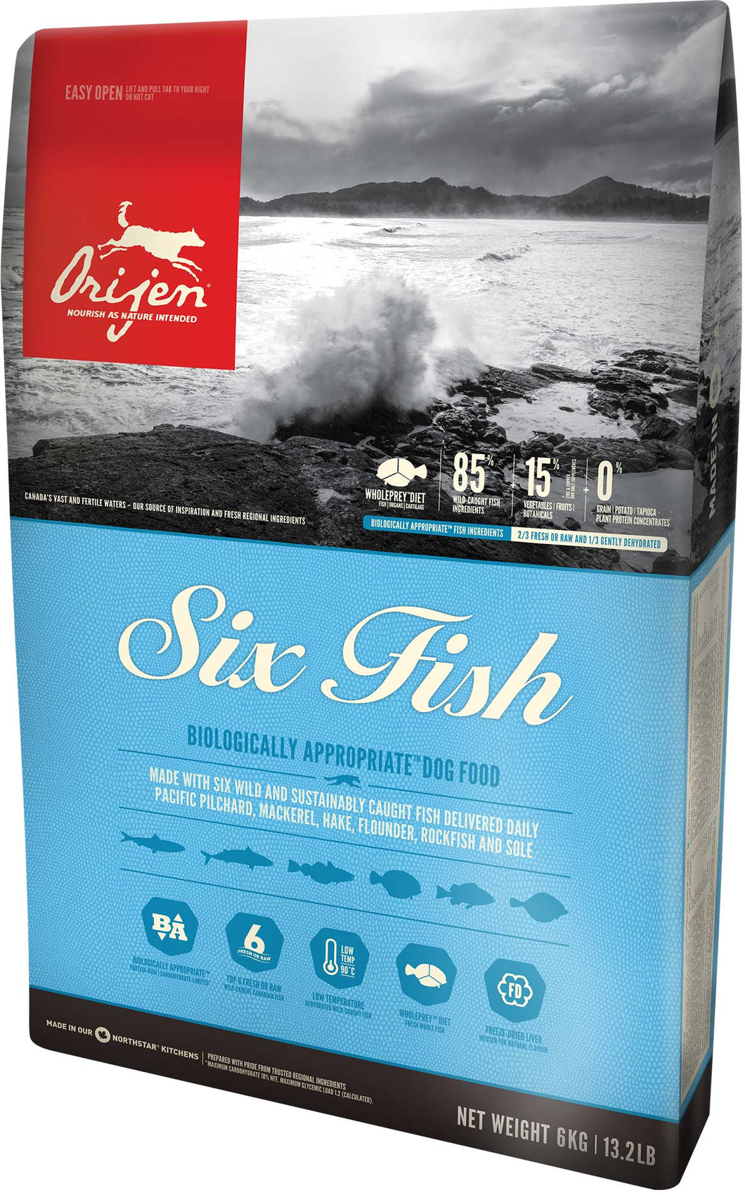 ORIJEN Six Fish Premium Dog Food