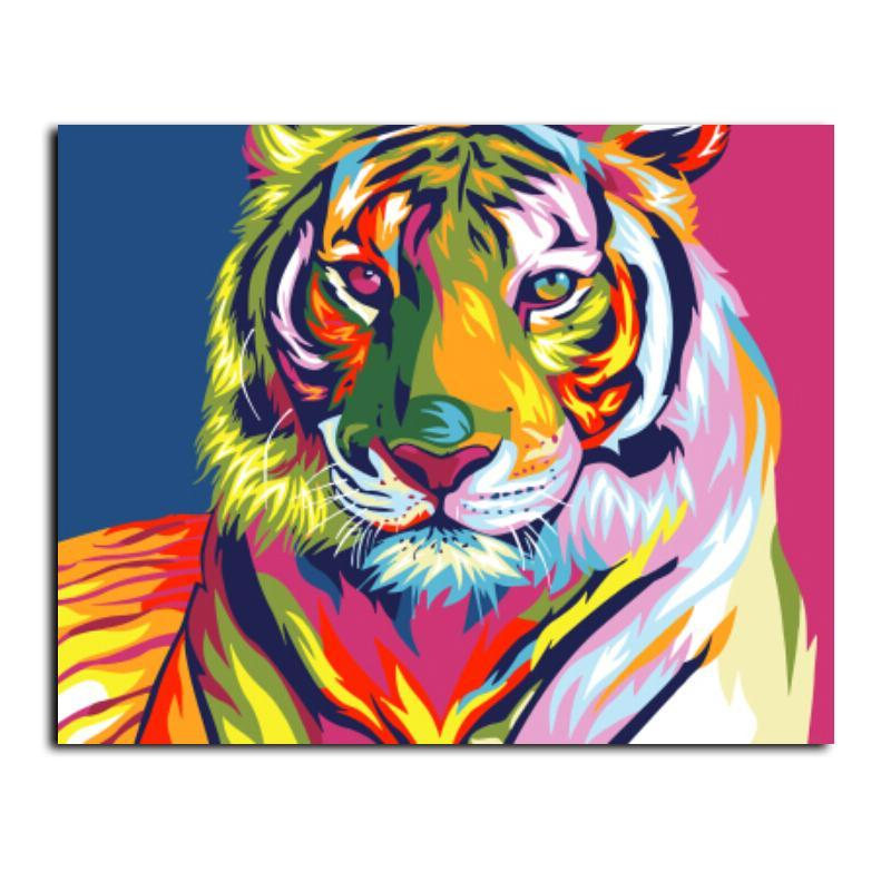Colorful Abstract Tiger