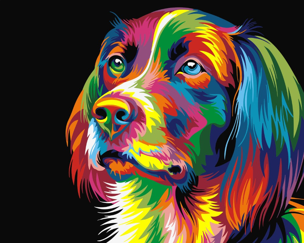 Colorful Abstract Puppy