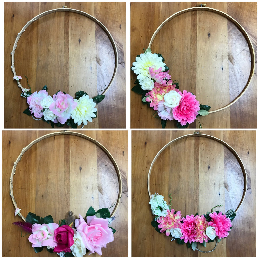 Boho Flower Wreath