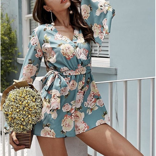 High Waisted Summer Romper
