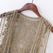 Hippie Love Crochet Cardigan khaki