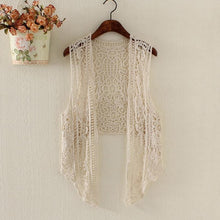 Hippie Love Crochet Cardigan beige