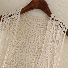 Hippie Love Crochet Cardigan white