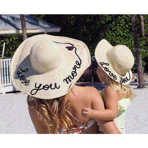 Mommy & Me 'Love You' Straw Hat - Boho Beach Queen
