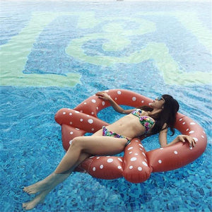 Giant Pretzel Pool Float - Boho Beach Queen
