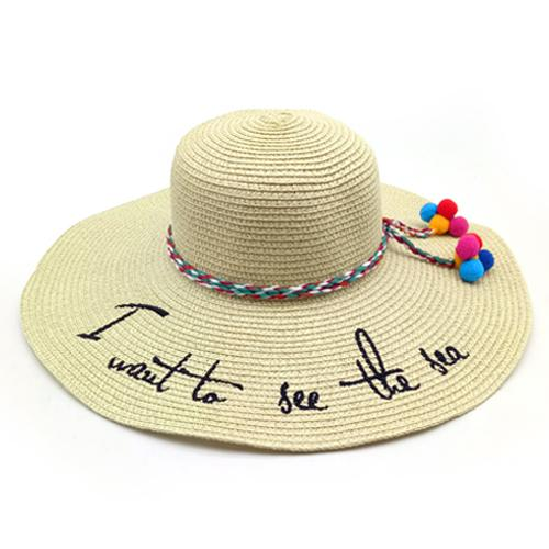 See the Sea Summer Floppy Hat - Boho Beach Queen