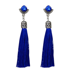 Tassel Drop Earrings - Boho Beach Queen