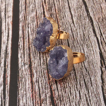 Gold with Druzy Stone Ring - Boho Beach Queen