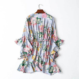 Vintage Gypsy Inspired Floral Wrap Dress - Boho Beach Queen