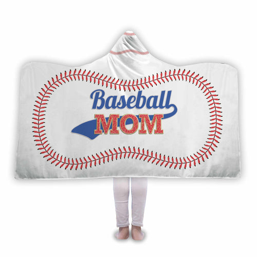 Baseball Mom Hooded Blanket - Honeybee's Tees