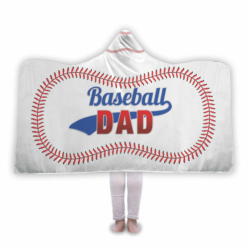 Baseball Dad Hooded Blanket - Honeybee's Tees