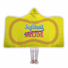 Softball Mom Hooded Blanket - Honeybee's Tees