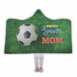 Proud Soccer Mom Hooded Blanket - Honeybee's Tees