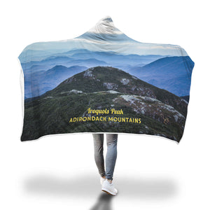 Adirondack Mountains Iroquois peak Hooded Blanket - Honeybee's Tees