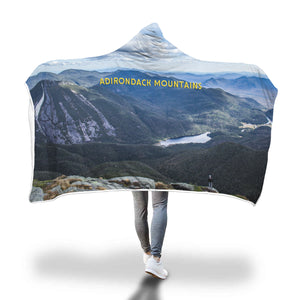 Lake Colden From Algonquin Peak Hooded Blanket - Honeybee's Tees