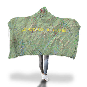 High Peaks Trail Map Hooded Blanket - Honeybee's Tees