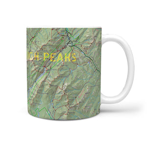 High Peaks Map Mug II - Honeybee's Tees